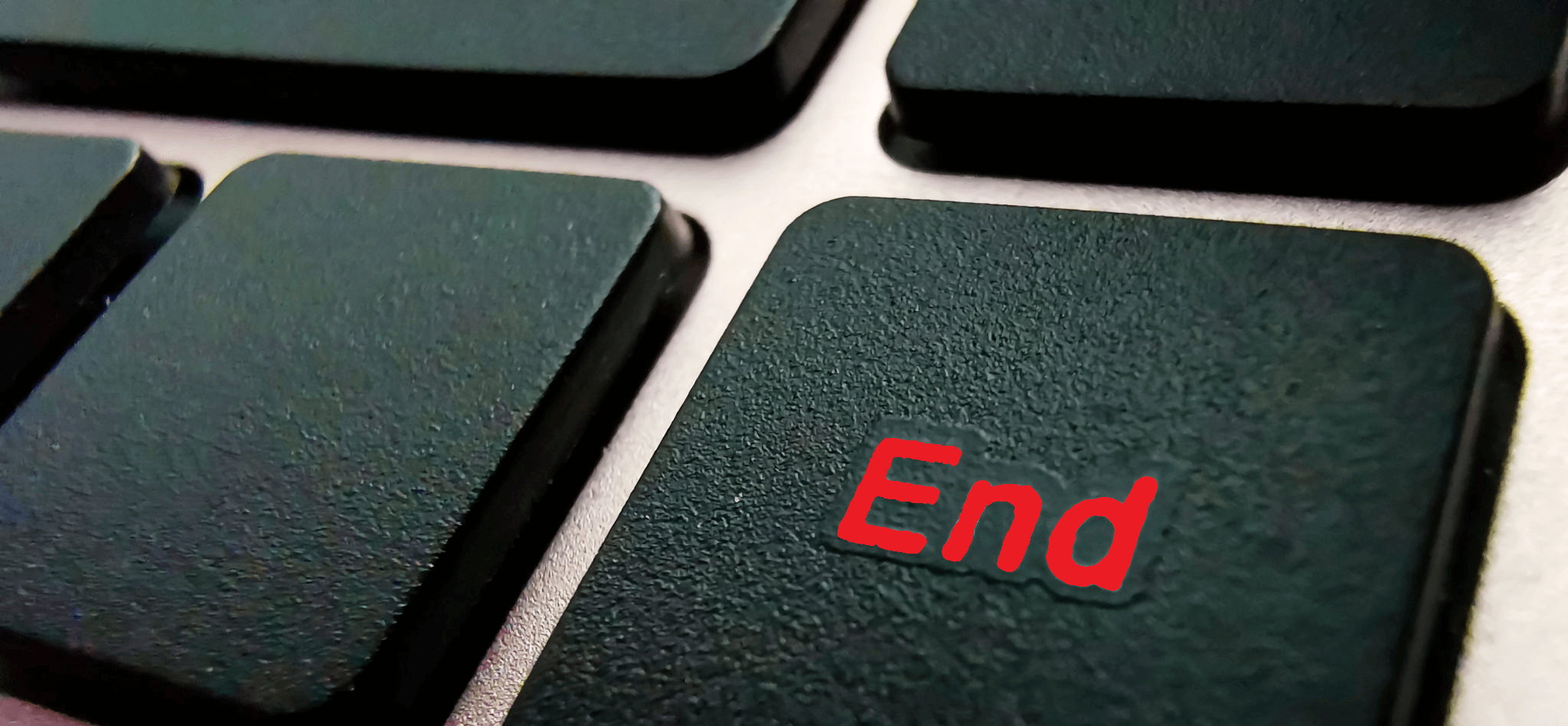 End key on keyboard